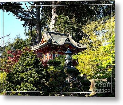 San Francisco Golden Gate Park Japanese Tea Garden 5 Metal Print by Robert Santuci