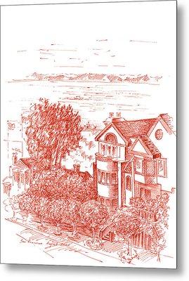 San Francisco Leavenworth Street Bay View Metal Print by Irina Sztukowski