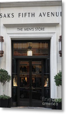 San Francisco Saks Fifth Avenue Store Doors - 5d20573 Metal Print by Wingsdomain Art and Photography