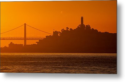 San Francisco Sunrise Metal Print by Alexis Birkill