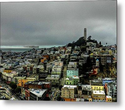 San Francisco - Telegraph Hill 002 Metal Print by Lance Vaughn