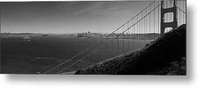 San Francisco Through The Golden Gate Bridge Metal Print by Twenty Two North Photography