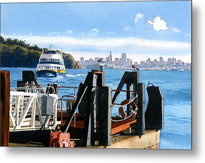 San Francisco Tiburon Ferry Metal Print by Mary Helmreich