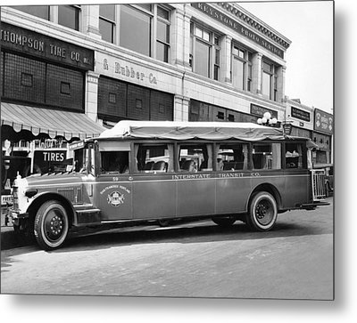 San Francisco To Portland Bus Metal Print by Keystone Photo Service