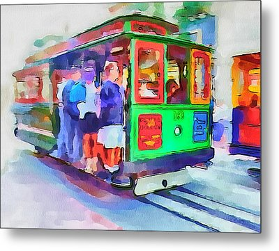San Francisco Trams 3 Metal Print by Yury Malkov