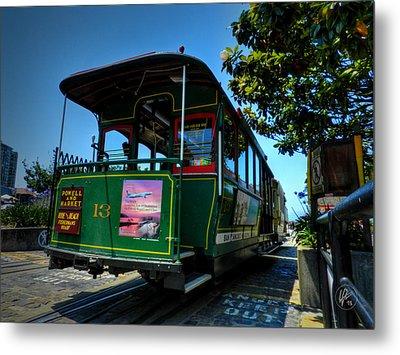 San Francisco Trolley 001 Metal Print by Lance Vaughn
