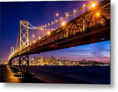 San Francisco - Under The Bay Bridge Metal Print by Alexis Birkill