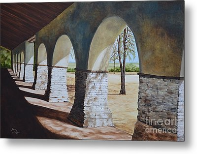 San Juan Bautista Mission Metal Print by Mary Rogers