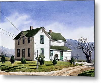 San Pasquale House Metal Print by Mary Helmreich