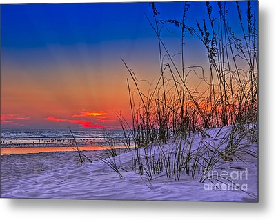 Sand And Sea Metal Print by Marvin Spates