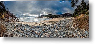 Sand Beach At Acadia Metal Print by Brent L Ander