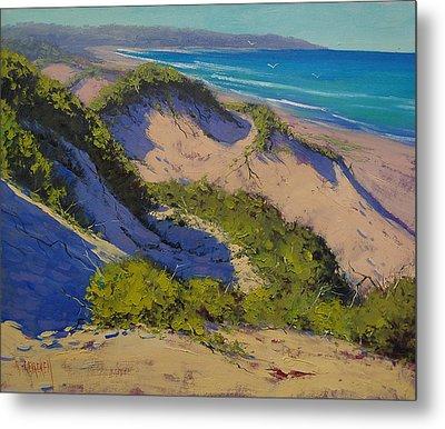 Sand Dunes Oil Painting Metal Print by Graham Gercken