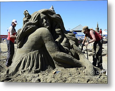 Sand Sculpture 1 Metal Print by Bob Christopher