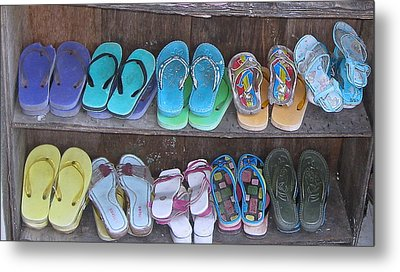 Sandals Metal Print by Russell Smidt