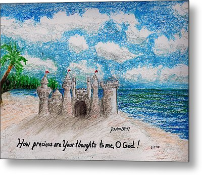 Sandcastle Metal Print by Catherine Saldana