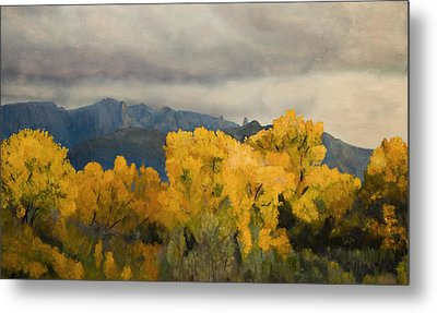 Sandias From The Bosque Metal Print by Jack Atkins