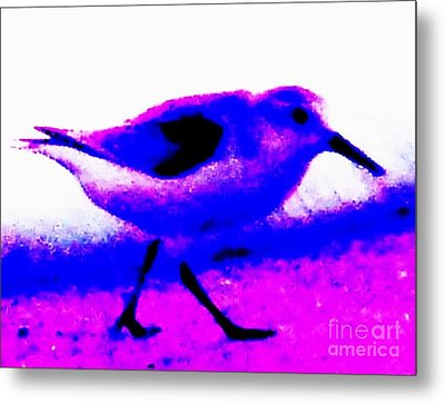 Sandpiper Abstract Metal Print by Eric  Schiabor