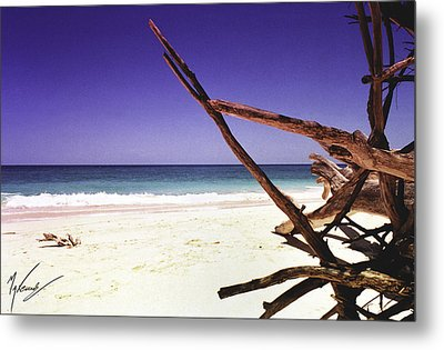 Sands Of Barbados Metal Print by Max CALLENDER