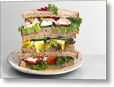 Sandwiches Metal Print by Science Photo Library