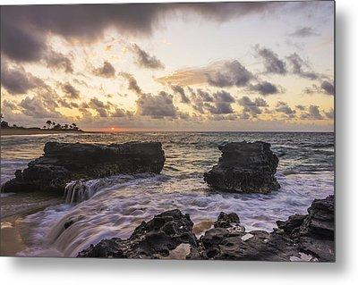 Sandy Beach Sunrise 1 - Oahu Hawaii Metal Print by Brian Harig
