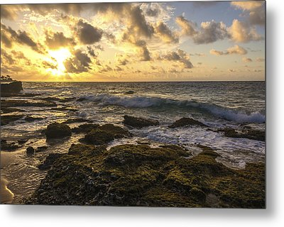Sandy Beach Sunrise 11 - Oahu Hawaii Metal Print by Brian Harig