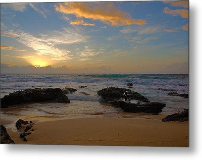 Sandy Beach Sunrise 3 - Oahu Hawaii Metal Print by Brian Harig