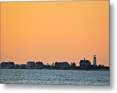 Sandy Neck Lighthouse Metal Print by Amazing Jules