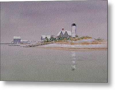 Sandy Neck Winter Light Metal Print by Karol Wyckoff