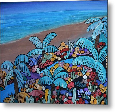 Santa Barbara Beach Metal Print by Barbara St Jean
