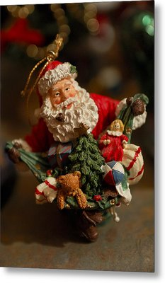 Santa Claus - Antique Ornament - 04 Metal Print by Jill Reger