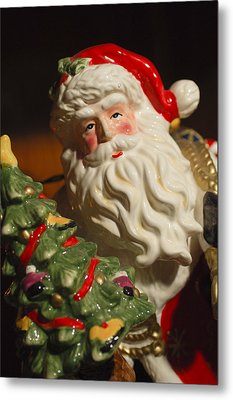 Santa Claus - Antique Ornament - 10 Metal Print by Jill Reger
