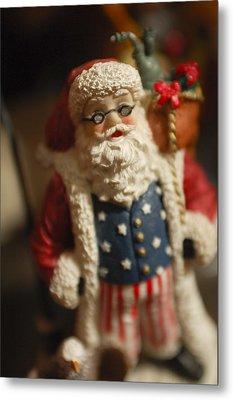 Santa Claus - Antique Ornament - 15 Metal Print by Jill Reger