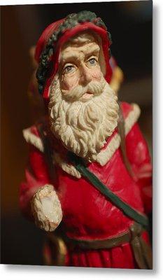 Santa Claus - Antique Ornament - 21 Metal Print by Jill Reger
