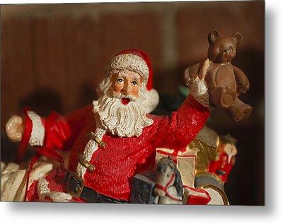Santa Claus - Antique Ornament - 26 Metal Print by Jill Reger