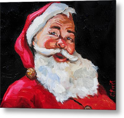 Santa Claus Metal Print by Carole Foret
