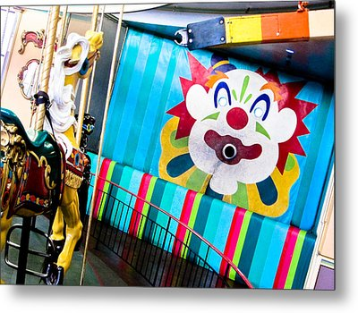 Santa Cruz Boardwalk Carousel Metal Print by Shane Kelly