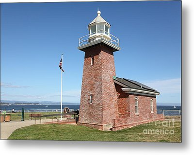 Santa Cruz Lighthouse Surfing Museum California 5d23936 Metal Print by Wingsdomain Art and Photography