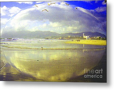 Santa Monica Beach Metal Print by Jerome Stumphauzer