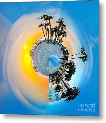 Santa Monica Pier Circagraph Metal Print by Az Jackson