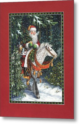 Santa Of The Northern Forest Metal Print by Lynn Bywaters