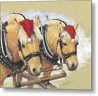 Santa's Little Helpers Metal Print by Tracie Thompson