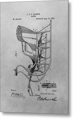 Santa's Sleigh Patent Drawing Metal Print by Dan Sproul