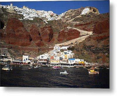 Santorini  Island  View To Oia Greece Metal Print by Colette V Hera  Guggenheim