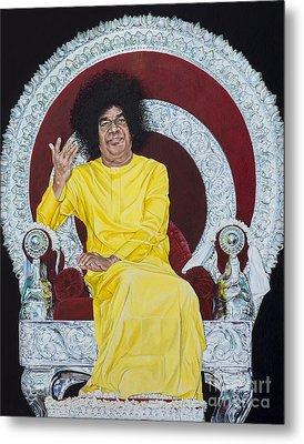 Sathya Sai Baba  Metal Print by Tim Gainey