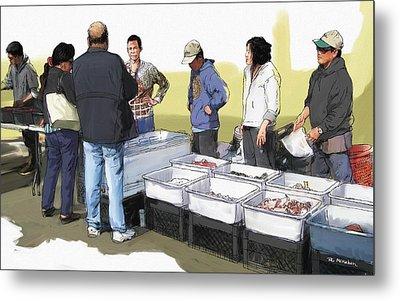 Saturday Fish Market Ventura Harbor Metal Print by RG McMahon