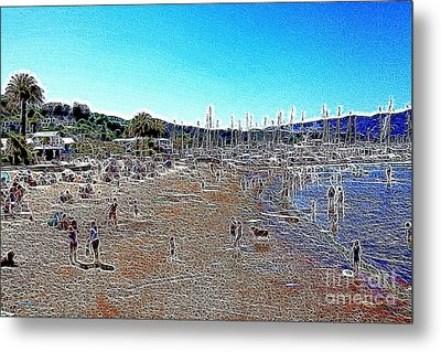 Sausalito Beach Sausalito California 5d22696 Artwork Metal Print by Wingsdomain Art and Photography