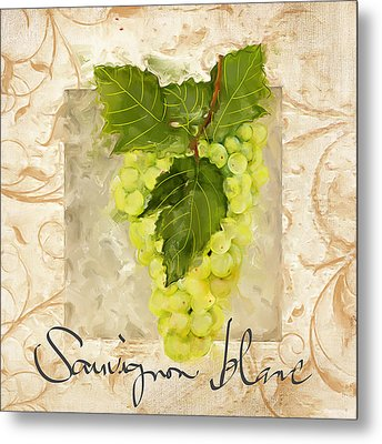 Sauvignon Blanc II Metal Print by Lourry Legarde