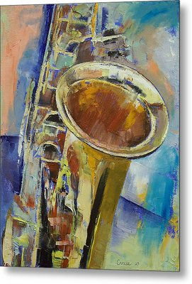 Saxophone Metal Print by Michael Creese