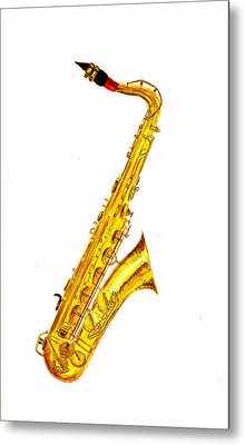 Saxophone Metal Print by Michael Vigliotti