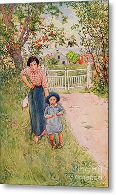 Say A Nice How Do You Do To Your Uncle Metal Print by Carl Larsson